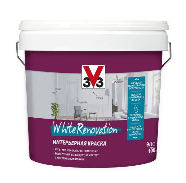 Мультифункциональная интерьерная краска V33 White Renovation