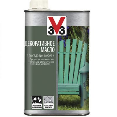 Декоративное масло для садовой мебели V33