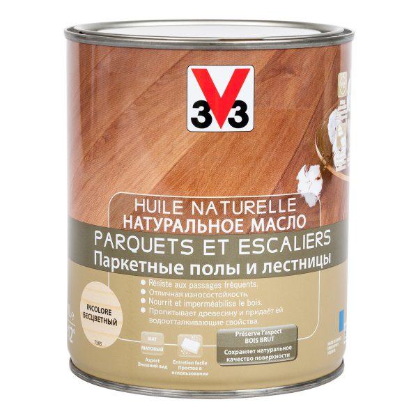 Натуральное масло для лестниц и паркета V33